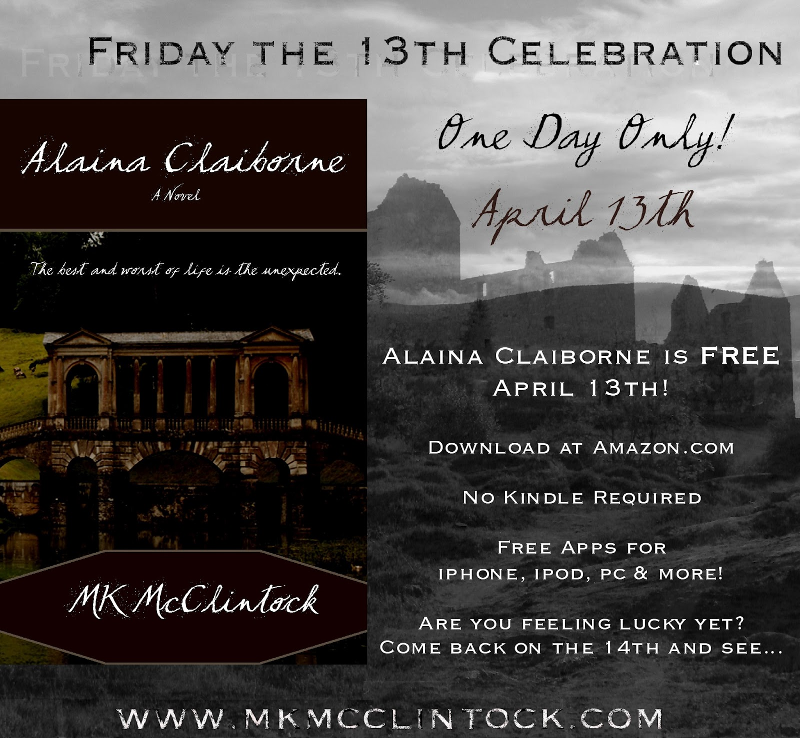 MK McClintock offers free book today and it's a blog hop