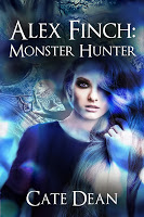 """Book blurb for """"Alex Finch: Monster Hunter"""" by Cate Dean"""