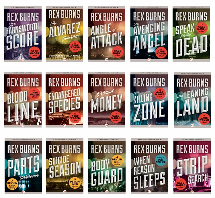 Live chat with mystery author Rex Burns - Sunday, Feb 16, 7-9PM EST