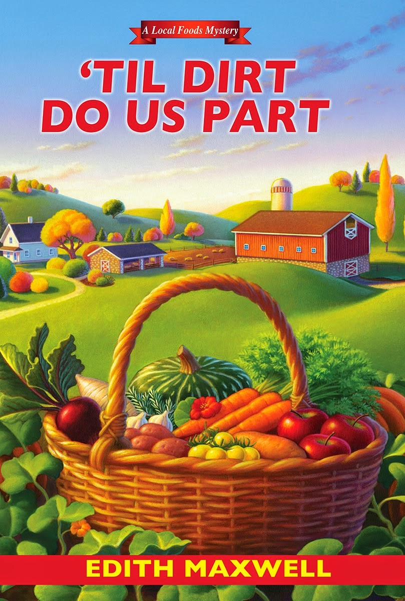 Review of Edith Maxwell's cozy mystery 'Til Dirt Do Us Part